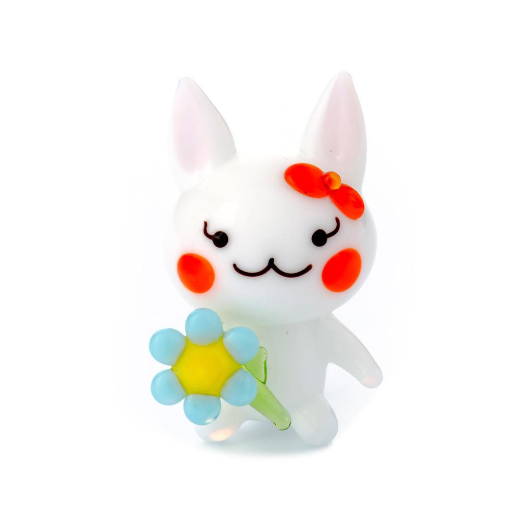 ウサギお花